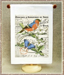 2036 Bullfinch and butterfly L